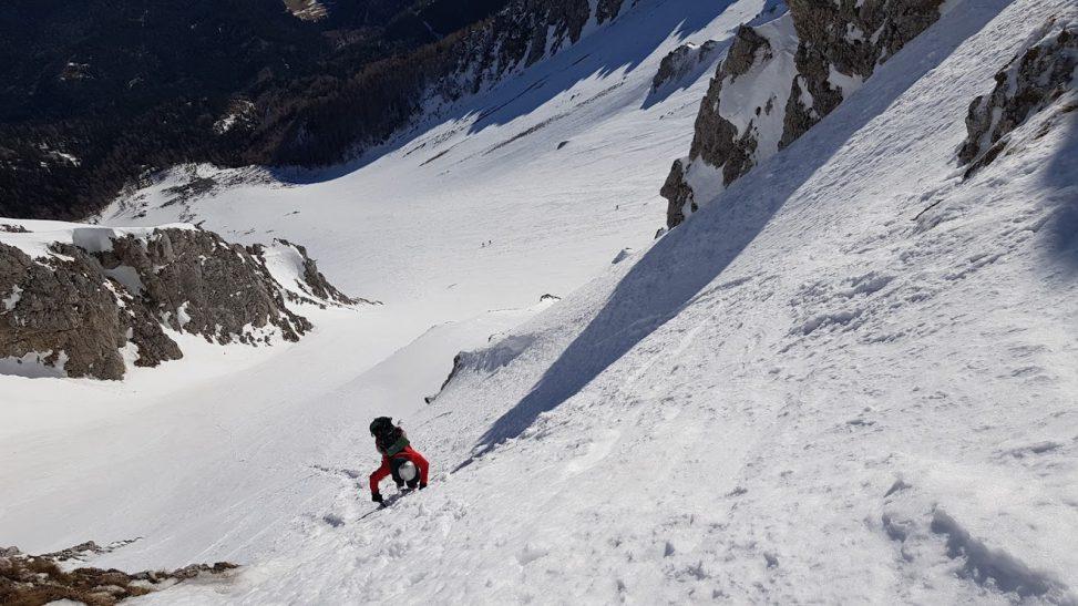 Aufstieg Vestenkogel Ost, Schneeberg